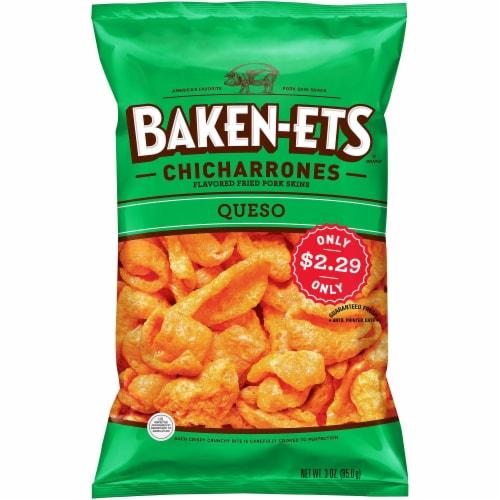 Baken-Ets Queso Flavored Fried Pork Skins Perspective: front