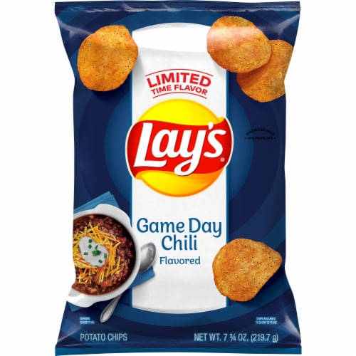 Lay's Game Day Chili Flavored Potato Chips Perspective: front