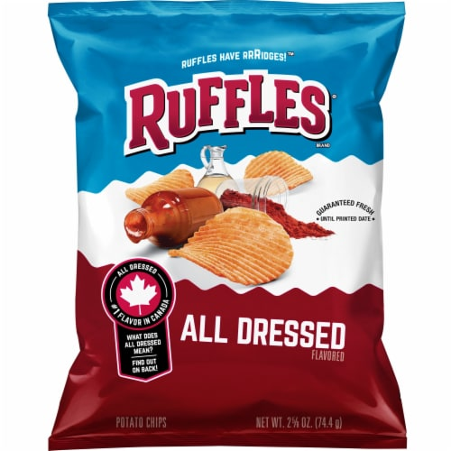 Ruffles All Dressed Flavored Potato Chips Perspective: front