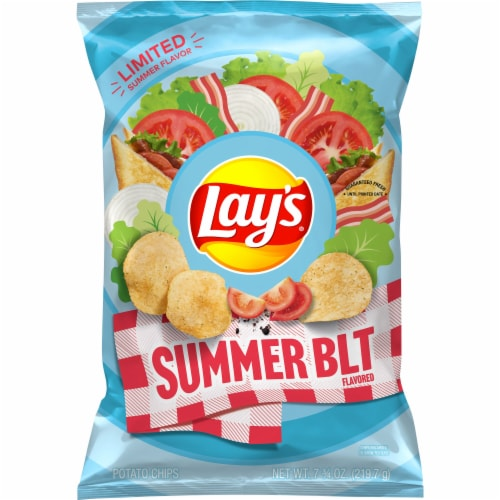 Lay's Summer BLT Flavored Potato Chips Perspective: front
