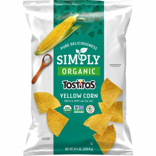 Tostitos Simply Organic Yellow Corn Tortilla Chips Perspective: front
