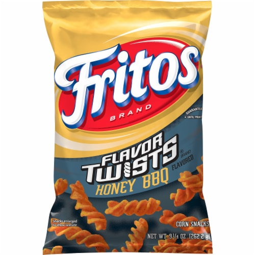 Fritos Twists Honey BBQ Flavored Corn Chips Perspective: front