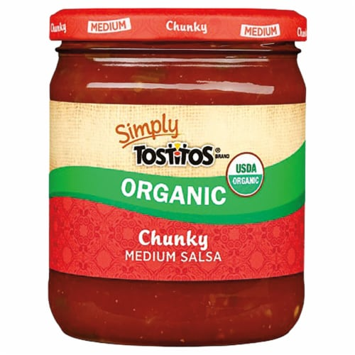 Tostitos® Simply Organic Medium Chunky Salsa Perspective: front
