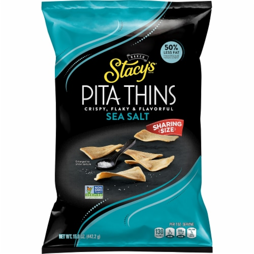 Stacy's Pita Thins Sea Salt Snack Chips Perspective: front