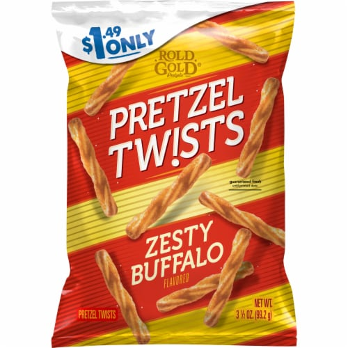 Rold Gold Recipe No 4 Zesty Buffalo Flavored Pretzel Twists Perspective: front