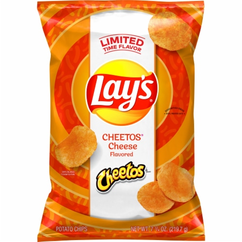 Lay's Cheetos Cheese Flavored Potato Chips Perspective: front