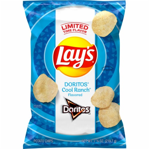 Lay's Doritos Cool Ranch Flavored Potato Chips Perspective: front
