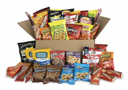 Ultimate Snack Care Package, Bundle of Chips, Cookies, Crackers & More, 40 Count Pack Perspective: front