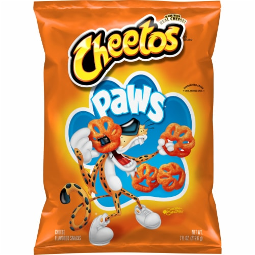Cheetos Paws Cheese Flavored Snacks Perspective: front