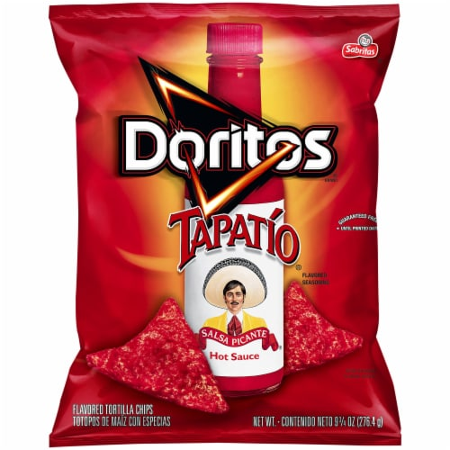 Doritos Tapatio Flavored Tortilla Chips Snacks Perspective: front