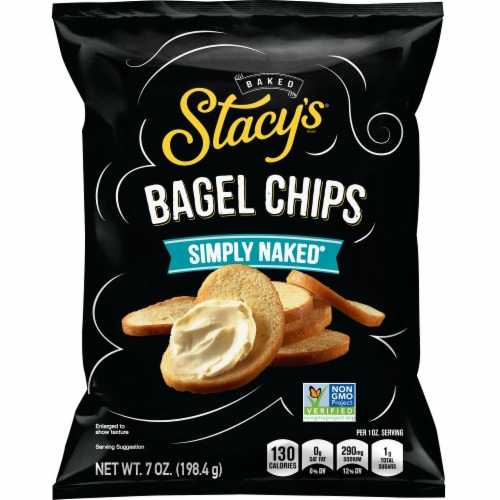 Stacy's Simply Naked Bagel Chips Snacks Perspective: front
