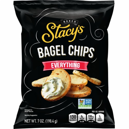 Stacy's Everything Bagel Chips Snacks Perspective: front
