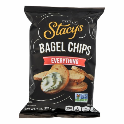 Stacy's Pita Chips Bagel Chips - Everything - Case of 12 - 7 oz Perspective: front