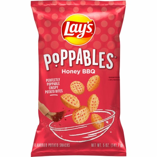 Lay's Poppables Potato Chips Snacks Honey Barbecue Flavor Perspective: front