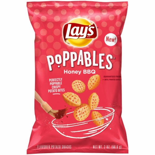 Lay's Poppables Honey BBQ Flavored Potato Snacks Perspective: front