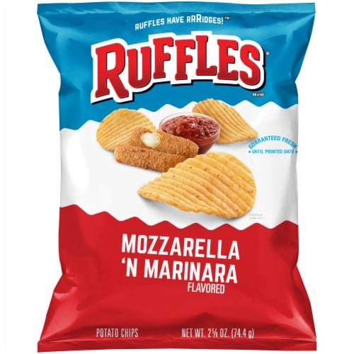 Ruffles Mozzarella 'N Marinara Flavored Potato Chips Perspective: front