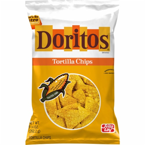 Doritos Toasted Corn Tortilla Chips Perspective: front