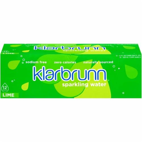 Klarbrunn® Lime Sparkling Water Perspective: front