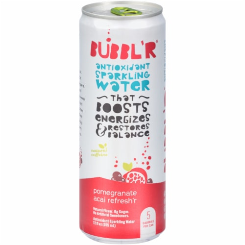 Bubbl'r Pomegranate Acai Refresh'r Sparkling Water Perspective: front