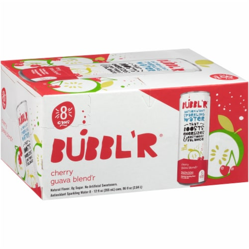 Bubbl'r Cherry Guava Blend'r Sparkling Water Perspective: front