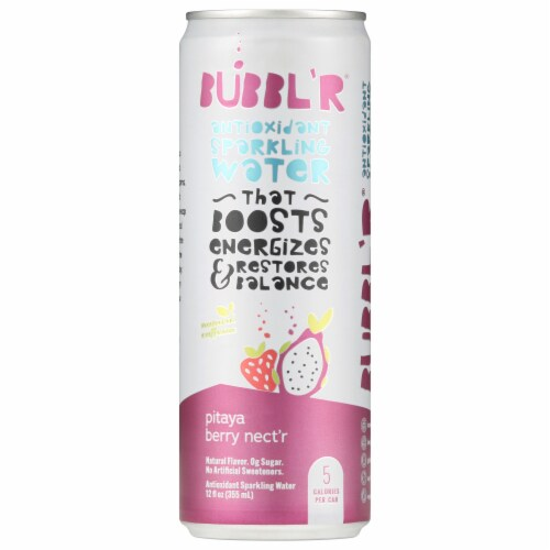 Bubbl'r Pitaya Berry Nect'r Sparkling Water Perspective: front
