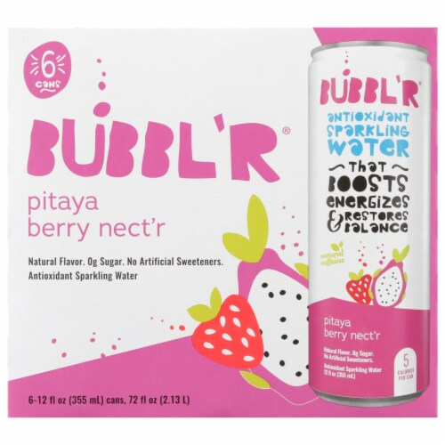 Bubbl'r Pitaya Berry Nect'r Antioxidant Sparkling Water Perspective: front