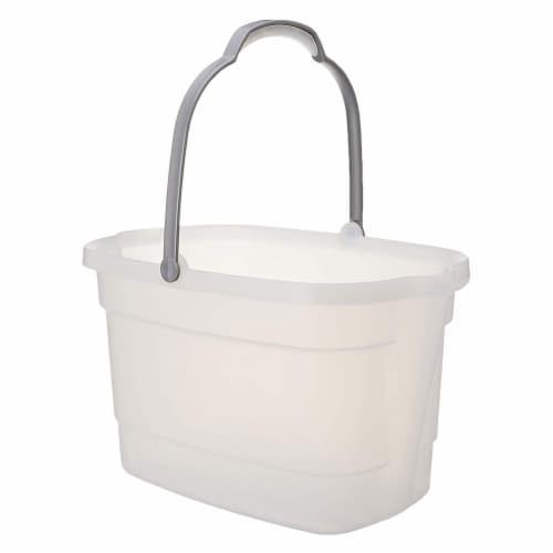 Casabella 4 Gallon Storage Bucket Caddy Bin - White Perspective: front