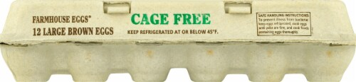 Farmhouse Cage Free Grade A Large Brown Eggs Perspective: front