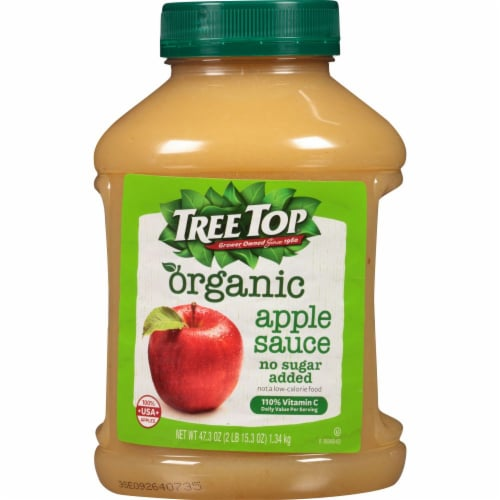 Tree Top Organic No Sugar Added Applesauce Perspective: front