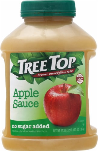 Tree Top No Sugar Added Apple Sauce Perspective: front
