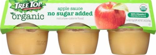 Tree Top Organic Applesauce Cups Perspective: front