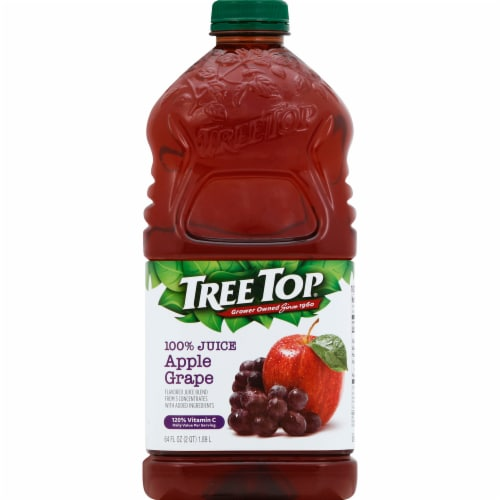 Tree Top Apple Grape 100% Juice Perspective: front