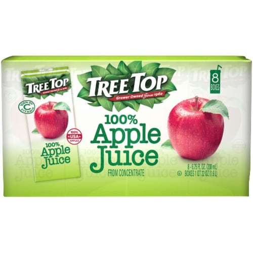 Tree Top 100% Apple Juice Boxes Perspective: front