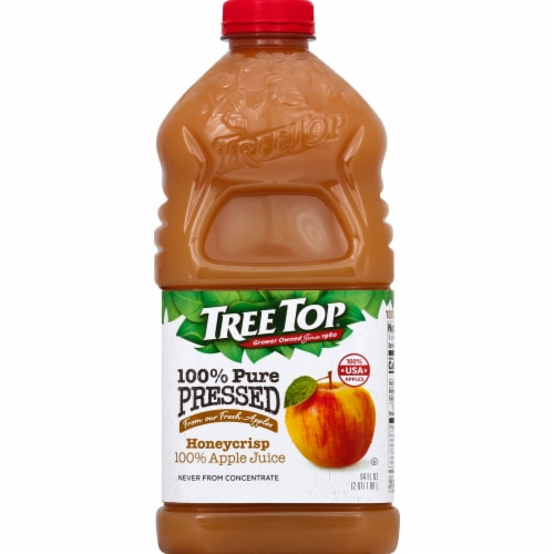Tree Top Pure Pressed 100% Honeycrisp Apple Juice Perspective: front