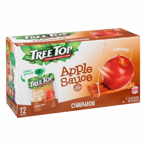 Tree Top Cinnamon Apple Sauce Pouches Perspective: front