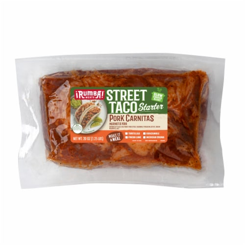 Rumba Meats® Pork Carnitas Street Taco Starter Perspective: front
