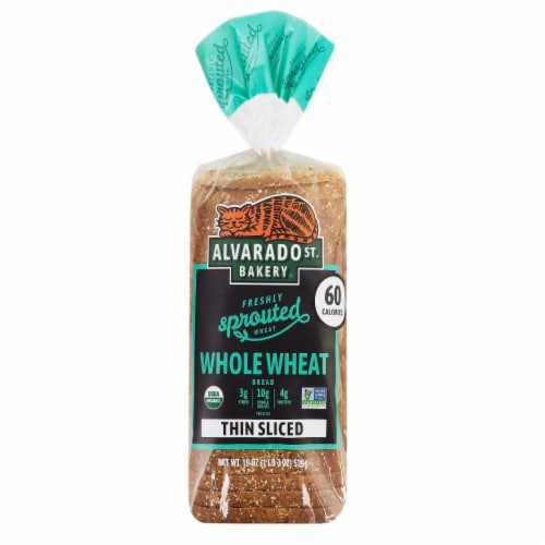 Alvarado Street Thin Sliced Sprouted Whole Wheat Bread Perspective: front