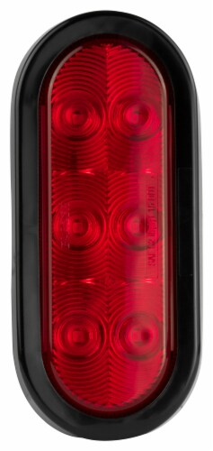 Hopkins Oval Stop Turn Tail Light - Red Perspective: front