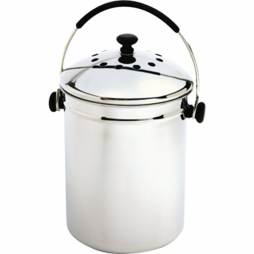 Norpro 95 Counter Top Compost Keeper - Stainless Steel Perspective: front