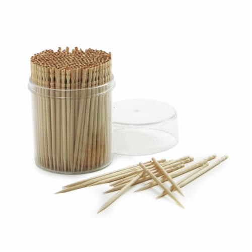Nordic Products Ornate Wood Toothpicks - Natural Perspective: front