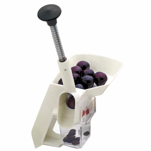 Norpro Deluxe Cherry Pitter - White Perspective: front