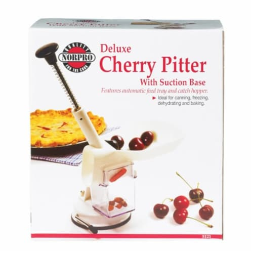 Norpro Deluxe Cherry Pitter with Suction Base Perspective: front