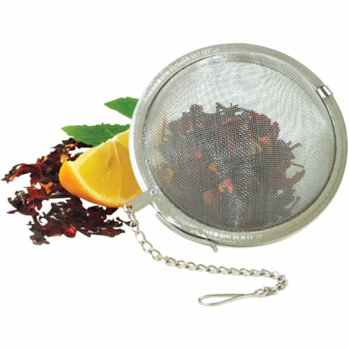 Norpro 5504 2.5 in. Stainless Steel, Mesh Tea Ball Perspective: front