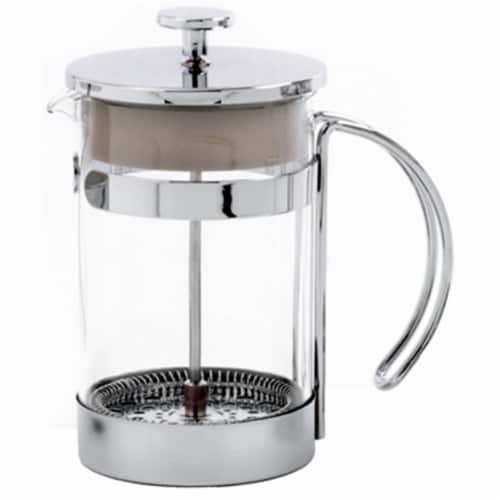 Norpro 5574 Coffee Press Chrome Plated Frame With Glass Bowl Perspective: front