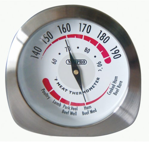 Norpro Stainless Steel Meat Thermometer - Silver Perspective: front