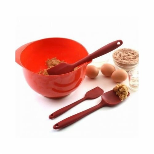 Norpro 2998 Silicone Spatulas Set - Red Perspective: front