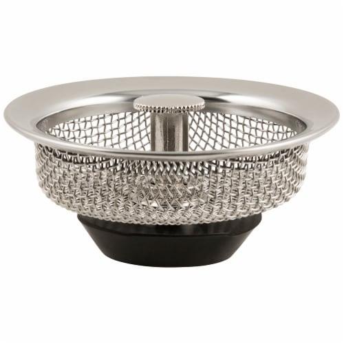 Waxman Deluxe Mesh Basket Strainer - Silver Perspective: front