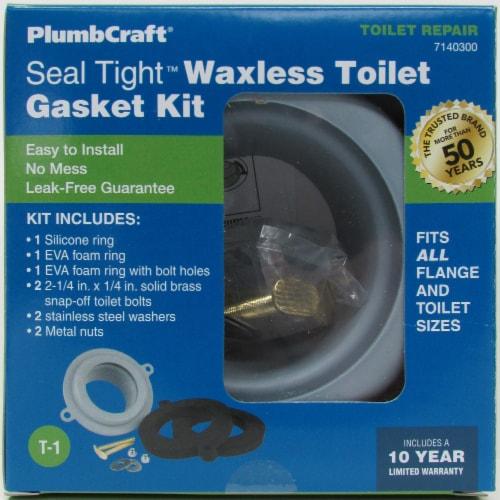 PlumbCraft® Seal Tight Waxless Toilet Gasket Perspective: front