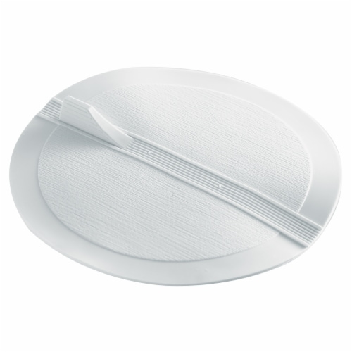 Waxman Flat Suction Stopper - White Perspective: front