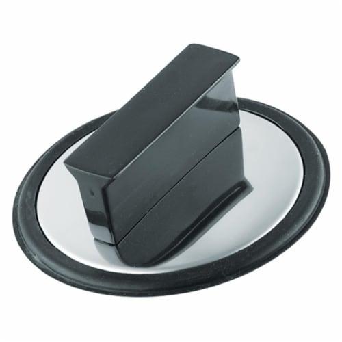 Waxman Plumb Craft® Black Disposal Stopper Perspective: front
